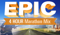 Running music mix entitled Epic 4 Hour Marathon Mix  from Rock My Run