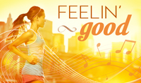 Running music mix entitled Feelin Good from Rock My Run