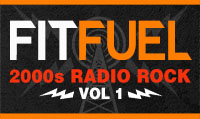 Running music mix entitled Fit Fuel 2000s Radio Rock Vol. 1 from Rock My Run
