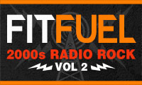 Running music mix entitled Fit Fuel 2000s Radio Rock Vol. 2 from Rock My Run