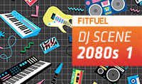 Running music mix entitled Fit Fuel 2080s 1 from Rock My Run