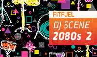Running music mix entitled Fit Fuel 2080s 2 from Rock My Run