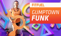 Running music mix entitled Fit Fuel Gumptown Funk from Rock My Run
