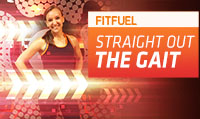 Running music mix entitled Fit Fuel Straight Out The Gait from Rock My Run