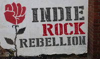 Running music mix entitled Indie Rock Rebellion from Rock My Run