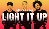 Running music mix entitled Major Lazer Light It Up from Rock My Run
