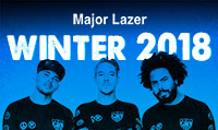 Running music mix entitled Major Lazer Winter 2018 from Rock My Run