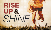 Running music mix entitled Rise Up & Shine from Rock My Run