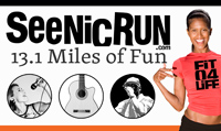 Running music mix entitled SeeNicRun's 13.1 Miles of Fun from Rock My Run