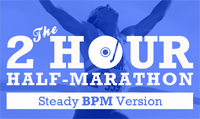 Running music mix entitled 2 Hour 1/2 Marathon (Steady) from Rock My Run