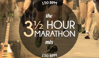 Running music mix entitled The 3 1/2 Hour Marathon from Rock My Run