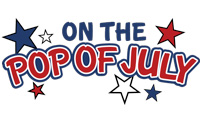 Running music mix entitled On the Pop of July from Rock My Run